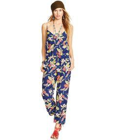 da854b667a5 Polo Ralph Lauren Floral-Print V-Neck Jumpsuit Women - Pants   Capris -  Macy s