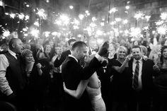 Love all the sparklers! Gorgeous wedding photo by top Philadelphia wedding photographer Scott Lewis Images |   junebugweddings.com