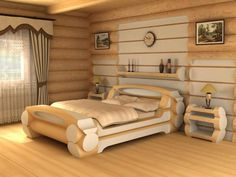 Bedroom is the place of home.We also need lots of furniture to make the room Just like a wardrob in the room. Log Furniture, Bedroom Furniture, Furniture Design, Bed Design, House Design, Wood Beds, Diy Bedroom Decor, Home Decor, Bed Frame