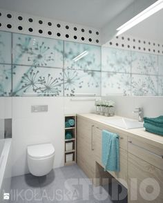 turkusowa łazienka - zdjęcie od MIKOŁAJSKAstudio - Łazienka - Styl Nowoczesny - MIKOŁAJSKAstudio