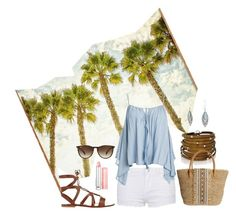 """""""Summer #1"""" by sammers-i on Polyvore featuring Universal Lighting and Decor, Sans Souci, Gianvito Rossi, Sif Jakobs Jewellery, Skemo, Ray-Ban, Christian Dior and Bling Jewelry"""