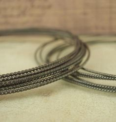 1/4 Troy Ounce HH - Oxidized Twisted Square Sterling Silver Wire - You PICK the Gauge - 10 - 20 Gauge -  Made in the USA by CreatingUnkamen - Jewelry supplies - jewelry making - jewelry supply - diy jewelry