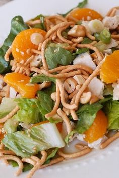 Chinese Chicken Salad - Mom, I am not sure which one I looked at originally, but this one seems to be a good option for everyone's food availability (modified a bit)