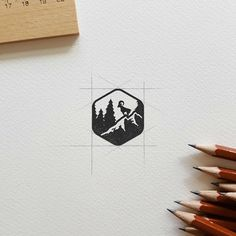 Follow us  @logoinspirations Badge by @deep.bear - ONLINE COURSE  http://ift.tt/2geIf0d -  LEARN LOGO DESIGN  @logocore @logocore @logocore