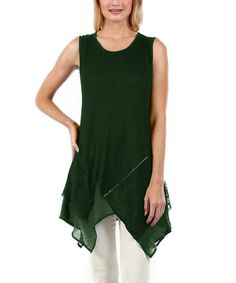 Another great find on #zulily! Green Handkerchief Tunic by Simply Aster #zulilyfinds