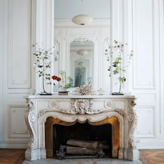 Stone Carved Marble Fireplace Mantel Surround - We are manufacturer, exporters and suppliers. Marble Fireplace Mantel, Faux Fireplace, Marble Fireplaces, Fireplace Mantle, Fireplace Design, Fireplace Mantel Decorations, Fireplace Molding, Antique Fireplace Mantels, French Interior