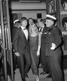 John and Cinthya Lennon at the London premiere of A Hard Day's Night.