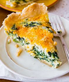 Cheesy Quiche Works So Well For Both Dinner And Breakfast!