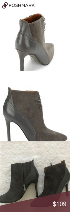 """Halston Irene Ankle Boots Sophisticated grey booties. Stiletto 4"""" heels with side zipper closure. The padded insole makes walking/dancing very comfortable. H by Halston Shoes Ankle Boots & Booties"""