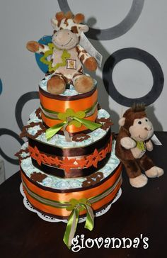 Jungle Diaper Cake!