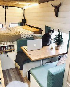 Our van interior! – Home Design Ideas Home Design, Interior Design, Web Design, Design Ideas, Van Living, Tiny House Living, Kombi Home, Van Home, Camper Life