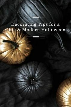 Spray paint your pumpkins for a sophisticated Halloween look