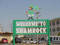 The luckiest town on #route66. Shamrock, TX