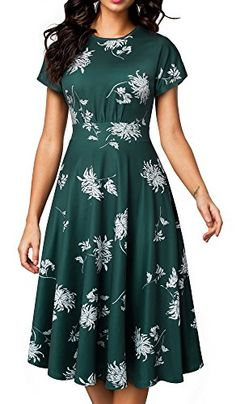b12fd69ec00 New HOMEYEE HOMEYEE Women s Short Sleeve Floral Casual Aline Midi Dress  A102 online - Nanaclothing