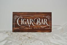 Cigar Bar Sign, Rust