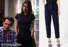 I'm a Soap Fan: Sam Morgan's Navy Blue Trousers - General Hospital, Season 53, Episode 110, 09/02/15 #GH Wardrobe worn on #GeneralHospital