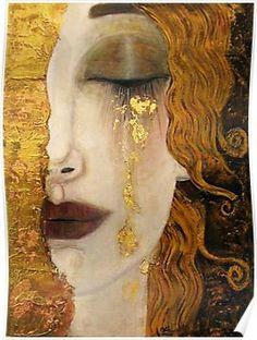 Klimt Golden Tears Poster