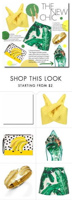 """""""Hot Tropics"""" by gabygrach ❤ liked on Polyvore featuring Delpozo, Dolce&Gabbana, tropicalprints, fashionset, polyvoreeditorial, polyvorecontest and hottropics"""