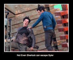 * Sylar. Still finding this funny, Sherlock and Heroes mash up!