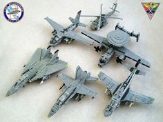Aircraft of Carrier Air Wing 8  by Mad physicist, via Flickr