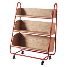 Rollregal aus Holz, B 85 cm - Happy