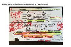Bruce Buffers fight card for Sila Vs Weidman