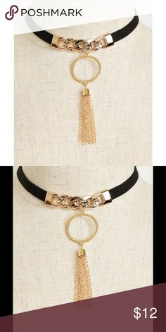 Choker Bundle to save PRICE FIRM UNLESS BUNDLED  Chain Drop Tassel Choker  Boutique Jewelry Necklaces
