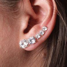 Brinco de Prata Contorno de Orelha (Ear Cuff) - 35700