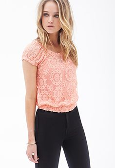 Medallion Embroidered Top | FOREVER21 - 2000088507