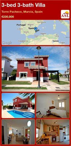 3-bed 3-bath Villa in Torre Pacheco, Murcia, Spain ►€230,000 #PropertyForSaleInSpain