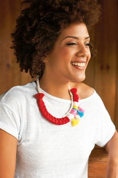 How to make a woven necklace | Mollie Makes 45