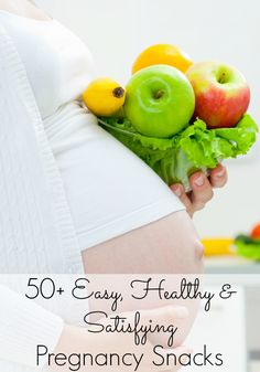 50+ Easy, Healthy, and Snacks | Great for pregnant women or really anyone! Loved getting some new ideas.