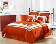 Orange Twin Comforter Set