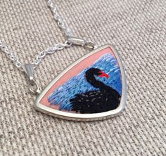 A personal favorite from my Etsy shop https://www.etsy.com/listing/225817990/black-swan-lake-necklace-hand