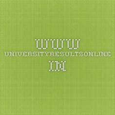www.universityresultsonline.in