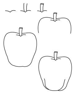 learning to draw | drawing apple