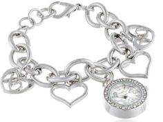Gifts for women silver charm bracelet watch - birthday gift ideas for women :)