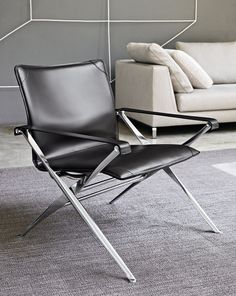 B Italia folding aluminium armchair 'Beverly' - has convenience ever been so indulgent?