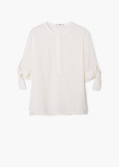 Fließende, strukturierte bluse | MANGO