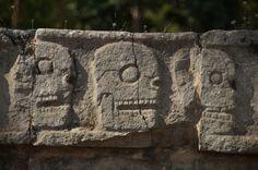 Platform of the Skulls, Chichén-Itzá, Mexico. Photograph by Tim Dawson via Flickr. #ancient #art #architecture