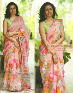 Discover recipes, home ideas, style inspiration and other ideas to try. Kerala Saree Blouse Designs, Cotton Saree Designs, Blouse Designs Silk, Trendy Sarees, Stylish Sarees, Simple Sarees, Fancy Sarees With Price, Saree Floral, Floral Print Sarees