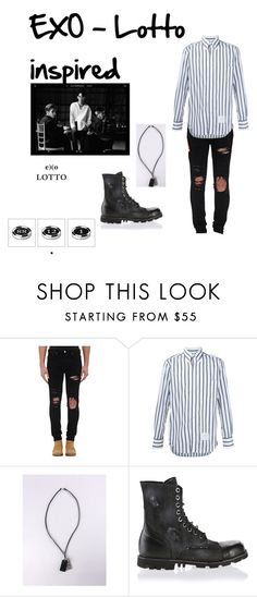"""EXO-Lotto  Inspired"" by breananicolas on Polyvore featuring AMIRI, Thom Browne and Diesel"