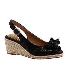 Michelle D Becky Slingback Wedge Sandals #Dillards