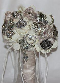 My wedding brooch bouquet.