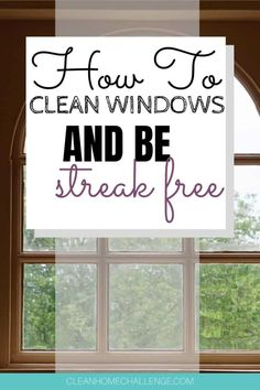 You never really do notice how dirty your windows are until you clean them. Let me tell you the quickest way to having clean windows in your home, with a product you already most likely have in your pantry. Window Cleaning Tips, Cleaning Hacks, Streak Free Windows, Lazy People, Window Cleaner, Organization Hacks, Vinegar, Frugal, Pantry