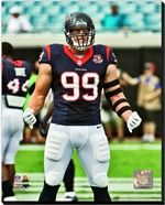 JJ Watt Houston Texans Stretched Canvas AAPE010-C NFL Football Sports Canvas AAPE010 JJ Watt 2012 Action. 16x20, 20x24, 24x30 Canvas Sizes Available. Officially Licensed NFL Football Canvas. Canvases are stretched around a wood frame. Wire for hanging not included. Please allow 3-5 business days as canvases are made to order.