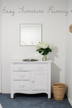Easy Way to Paint Furniture