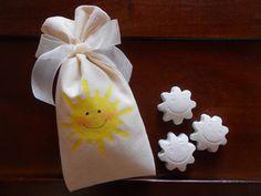 Sacchettino in stoffa di cotone dipinto a mano per gessetti profumati