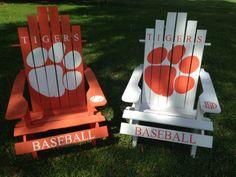#Clemson #Baseball Adirondack Chairs by Giant Baby's.