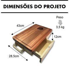 Receba em casa tudo que precisa para montar uma linda Tábua de Churrasco:  madeiras já cortadas, parafusos,  manual de instruções... É só abrir e fazer